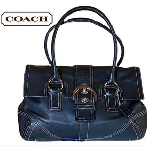 Classic Coach Purse Black - Heavy duty Hardware